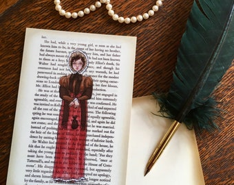Jane Austen Art Postcards - Austen Heroines - Anne Elliot - Persuasion