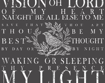 Iron Orchid Designs - Decor Transfers - Be Thou My Vision