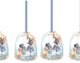 Alice in Wonderland Christmas 20 party tags