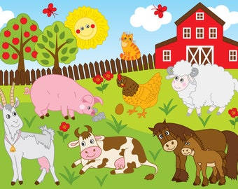 farm clipart etsy rh etsy com picture clipart of each states picture clip art gallery food