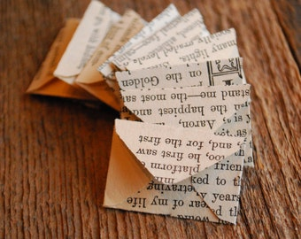 Vintage Paper Novel Miniature Envelopes, Teeny Tiny Envelopes, Mini Envelopes, Vintage Paper