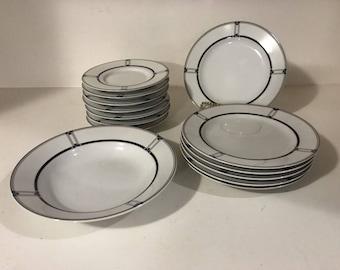 Mikasa Studio Nova Tangent Fine China Dinnerware Set Mixed Lot of 14