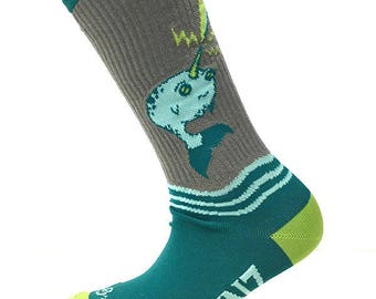 Electric Narwhal Performance Socks