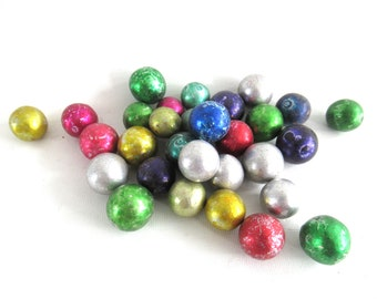 Set of 30 Antique Clay Marbles. #70CG4AK1