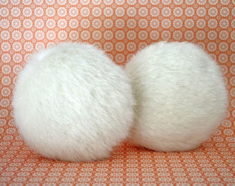 Circle fur doll pillow, round fur doll pillow