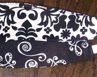 Black & White All Over Reversible Adult/Teen Headband