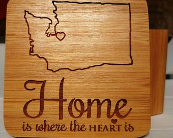 Home is where the heart is Coaster set of 4