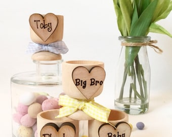 Personalised egg cup, Easter  basket , Easter egg cups,  egg cups, easter bunny,  1st Easter , easter chick , egg cup