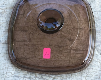 12. Square glass lid  7 inches