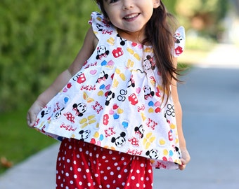 Mickey Mouse Shirt/ Disney Dress Toddler/ Disney Shirts/ Disney Baby/ Disney Toddler Dress/ Minnie Mouse Dress/ Disney Outfits
