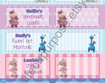 Doc McStuffins Birthday Party Food Tags