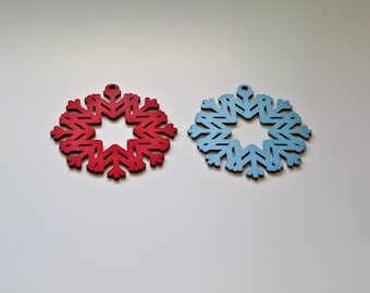 Christmas Laser Cut Wood Holiday Ornament