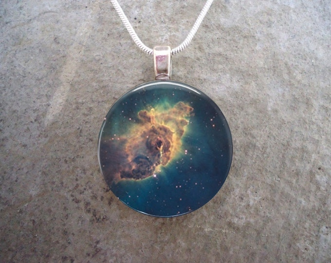 Carina Nebula Jewelry - Glass Pendant - Astronomy Necklace - Science