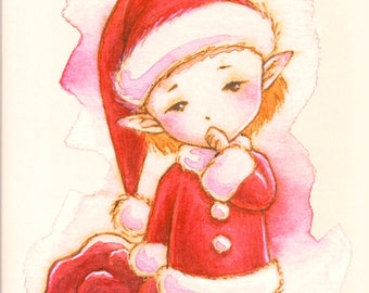 Aurora Wings Sprites Half-Size Mini Coloring Book - Christmas Sprites - 12 Easy Whimsical Images for All Ages - Art by Mitzi Sato-Wiuff