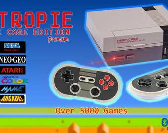 Retropie Nespi Case Edition Premium 7000+ Games Wireless Controllers 128gb Beast