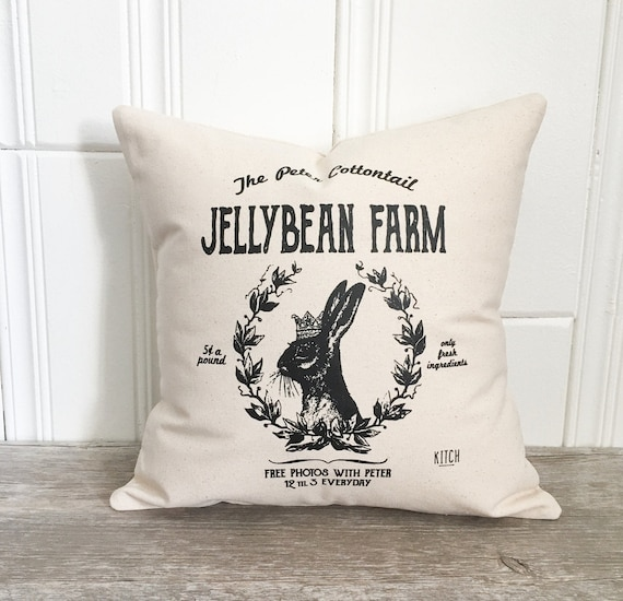 Jellybean farm pillow