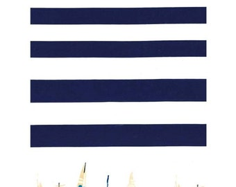 QUILTING COTTON: Michael Miller Regatta Border Print Fabric. Sold by the 1/2 yard