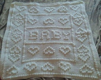 Crochet Hearts Baby Blanket