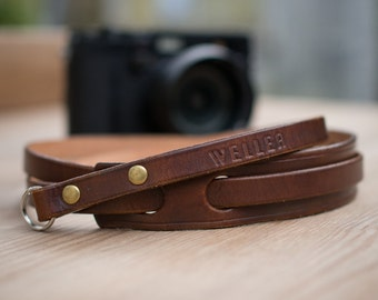 Leather camera shoulder strap for Fujifilm, Leica , Olympus, Sony and more, Camera strap