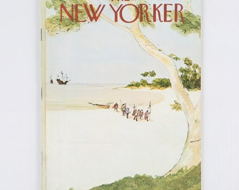 The New Yorker Magazine, Entire Publication Oct 13, 1975. Greens, Tans, Whites, Pale Blue Brown. Average to Fair Condition.