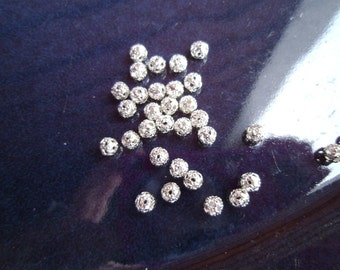 4mm Silver Filigree Spacers