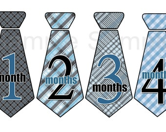 FREE GIFT Baby Tie Monthly Photo Stickers Tie Stickers Baby Boy Month Stickers Monthly Baby Stickers Monthly Milestone Stickers Baby Month