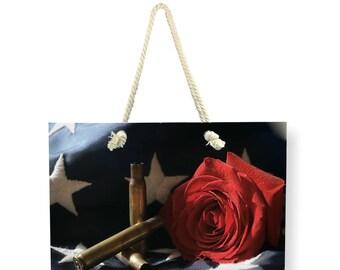 Patriotic Canvas Weekender Bag, Beach BAG, Shoulder Bag, Printed Overnight Bag, USA Travel Bag, America Carry On Bag, Large Canvas Bag