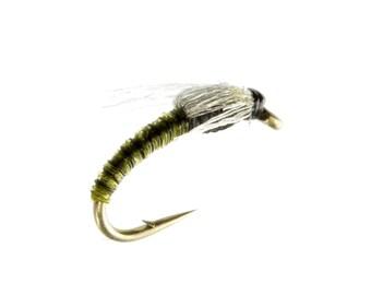 Fishing Flies - Midge Olive - Sizes 16, 18, 20