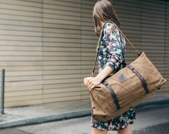 Waxed Canvas Holdall / Holdall/ Canvas Duffle Bag / Waxed Holdall Bag / Waxed Travelling Holdall Bags / Duffel Bag / Vintage Holdall Bags