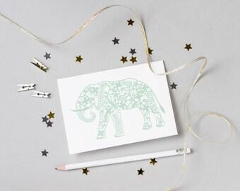 Elephant Papercut Card