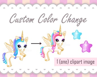 Custom Color Change, Non-exclusive, Single Clipart OR Single Digital Paper, ADD-ON