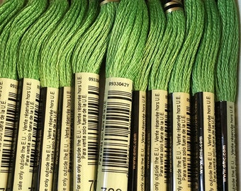 DMC 703 Chartreuse Embroidery Floss 2 Skeins 6 Strand Thread for Embroidery Cross Stitch Needlepoint Sewing Beading