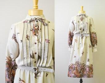 1970s Sunshine Alley Floral Dress