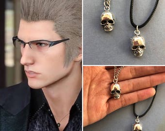 Ignis necklace, FFXV Ignis Skull Necklace, final fantasy xv necklace, Ignis cosplay, Ignis costume, Ignis Scientia