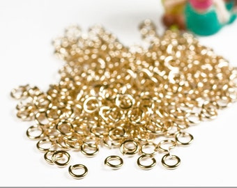 22g 2.25mm ID 3.6mm OD gold filled jump rings -- 22g2.25 goldfill jumprings 14k goldfilled