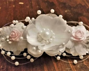 Elegant Floral Hair Barrette Perfect for Any Wedding/Bridal/Baby Shower/Everyday Event