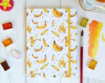 """Watercolor sketchbook """"Bananas' paradise"""" with 200g cellulose paper"""
