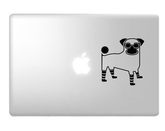 Pug Decal for Laptop