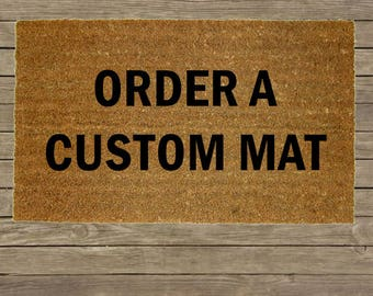 Custom Personalized Welcome Mat / Housewarming Gift