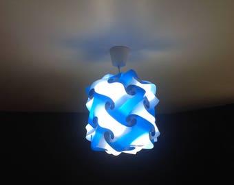 Light blue and white lamp Lantern puzzle