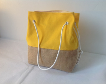 Purse bag beach bag handbag shoulder bag bag burlap bag was