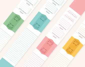 Productivity BOOKMARKS Set of 4 - To Do List/Habit Tracker/Project Tracker (Re-usable)