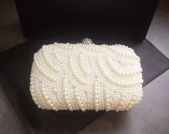 Bridal bag, wedding bag, Pearl clutch bag, bridal clutch, multiway bag, silver clutch, pearl bag, gift for her, bridesmaid bag