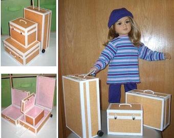 My Twinn pattern for foam core suitcase set PDF American Girl