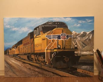 Union Pacific Railroad Painting