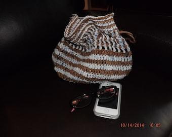 Crocheted Plarn handbag tote