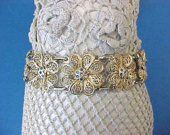 Dainty and Beautiful Floral Vintage Filigree Bracelet