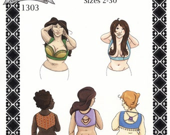 Women's Turkish Vest sizes 2-30 Theatrical & Dancing Style - Margo Anderson Sewing Pattern # 1303