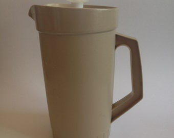 Vintage Tupperware Pitcher Beige / White Made in USA