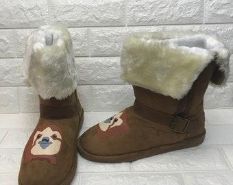 Sloth Boots [sloth shoes] Great Holiday gift! Slothzilla. Slothlovers. Dr Sloth.